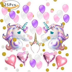 Decoración para fiesta unicornio