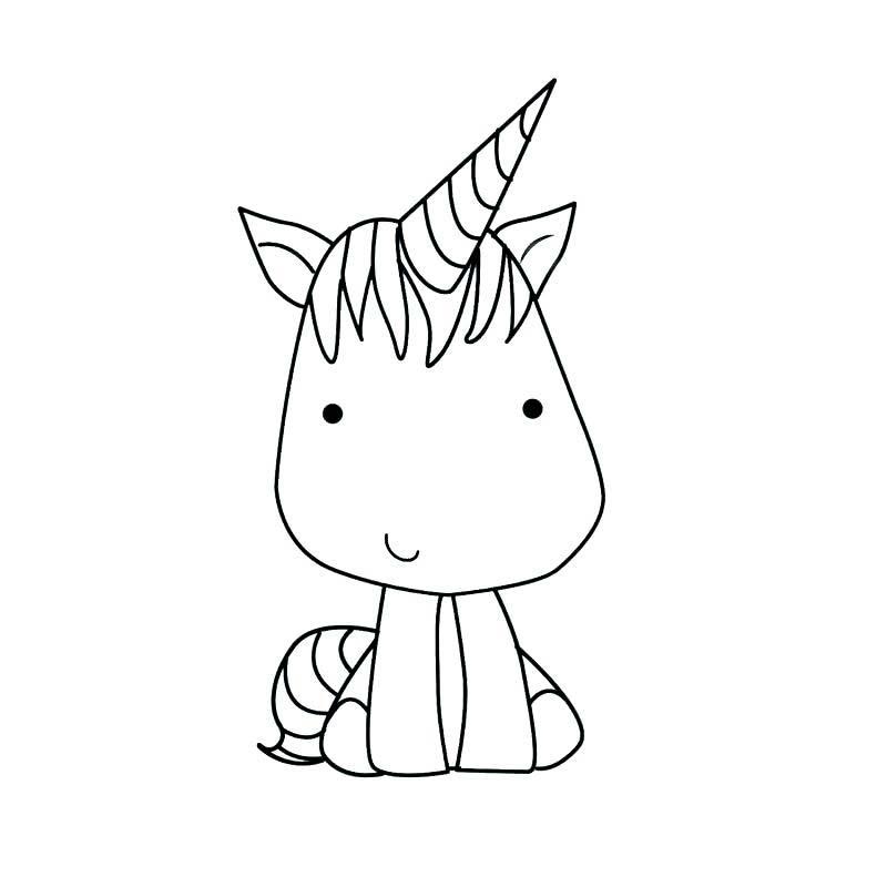 Dibujos Para Colorear De Unicornios Tiernos